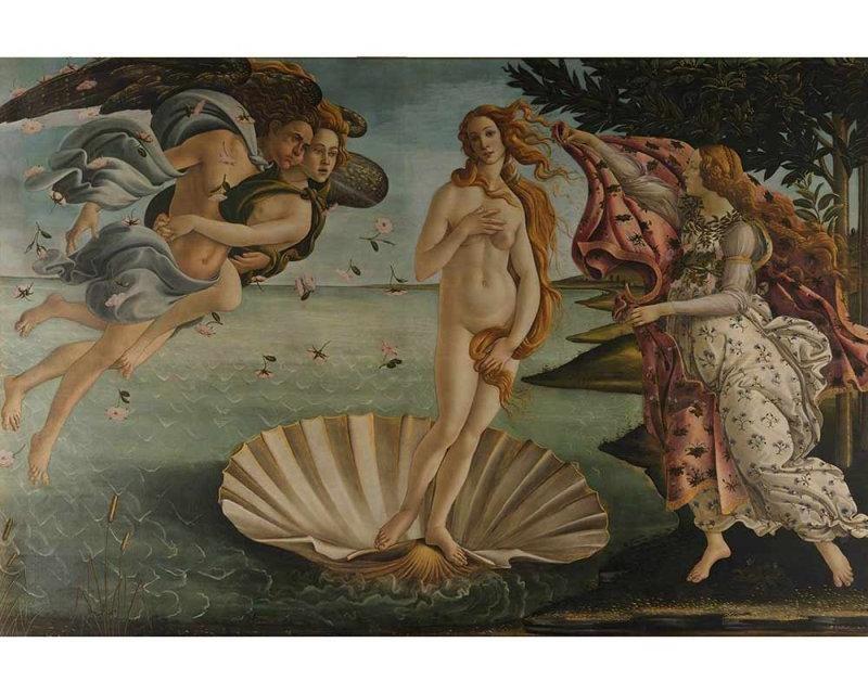 Vliesové fototapety na zeď Zrození Venuše Od Sandra Botticelliho | MS-5-0249 | 375x250 cm - Fototapety vliesové