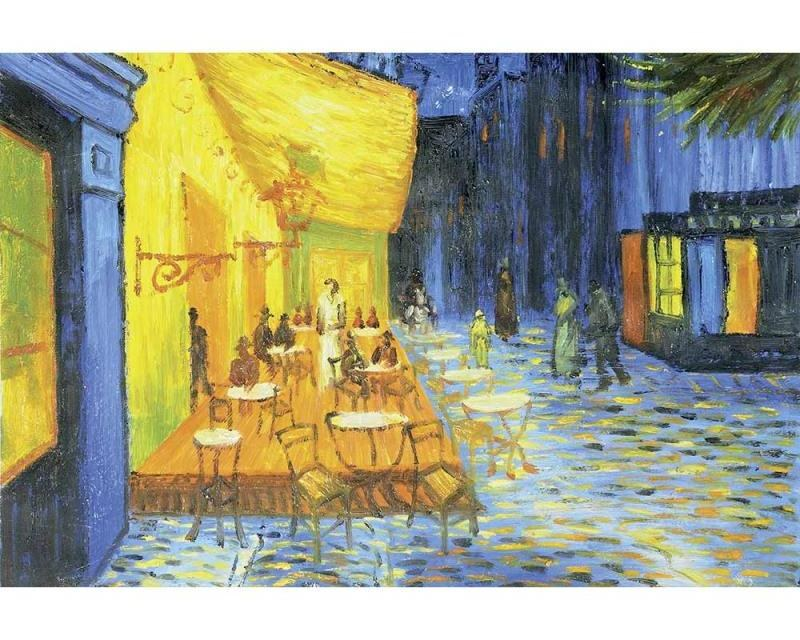 Vliesové fototapety na zeď Terasa Kavárny Od Vincenta Van Gogha | MS-5-0251 | 375x250 cm - Fototapety vliesové