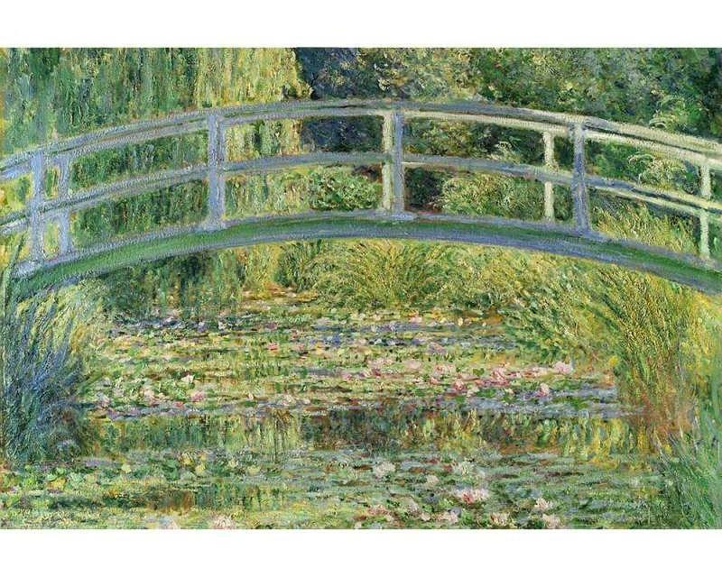 Vliesové fototapety na zeď Rybník s lekníny od Claude Oskara Moneta | MS-5-0255 | 375x250 cm - Fototapety vliesové