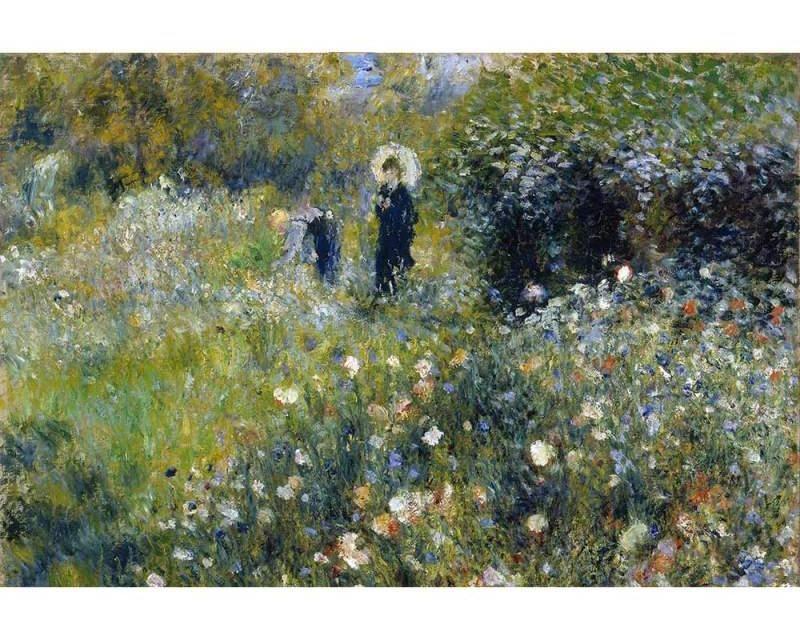 Vliesové fototapety na zeď Ženy v zahradě od Pierra Augusta Renoira   MS-5-0256   375x250 cm - Fototapety vliesové