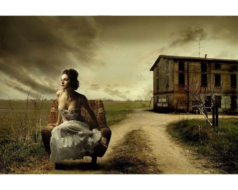 Vliesové fototapety na zeď Dívka v křesle | MS-5-0258 | 375x250 cm - Fototapety vliesové