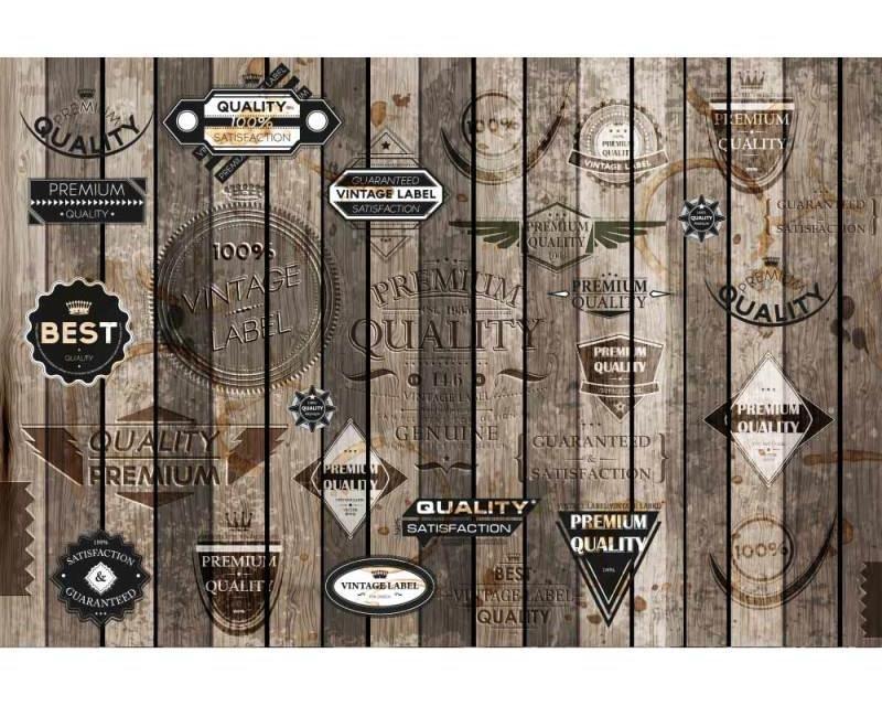 Vliesové fototapety na zeď Starodávné nálepky | MS-5-0262 | 375x250 cm - Fototapety vliesové