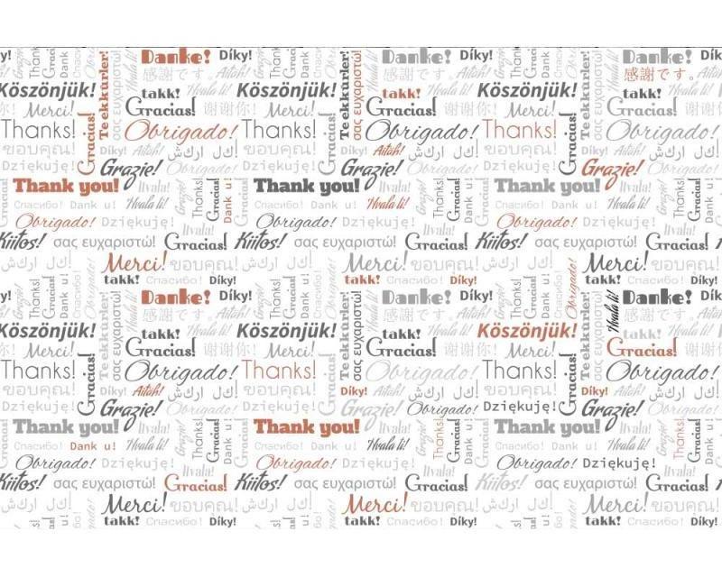 Vliesové fototapety na zeď Nápisy děkuji | MS-5-0266 | 375x250 cm - Fototapety vliesové