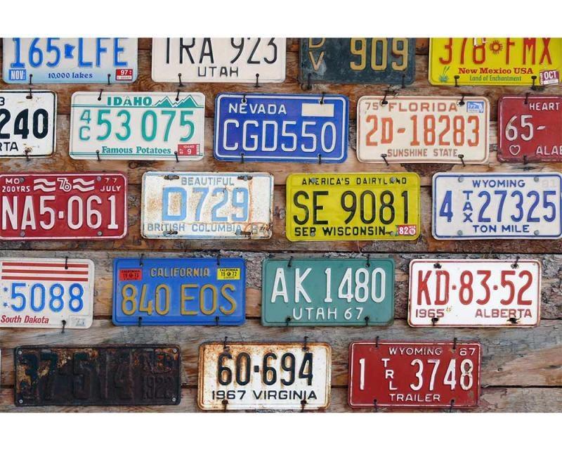 Vliesové fototapety na zeď Poznávací čísla | MS-5-0269 | 375x250 cm - Fototapety vliesové