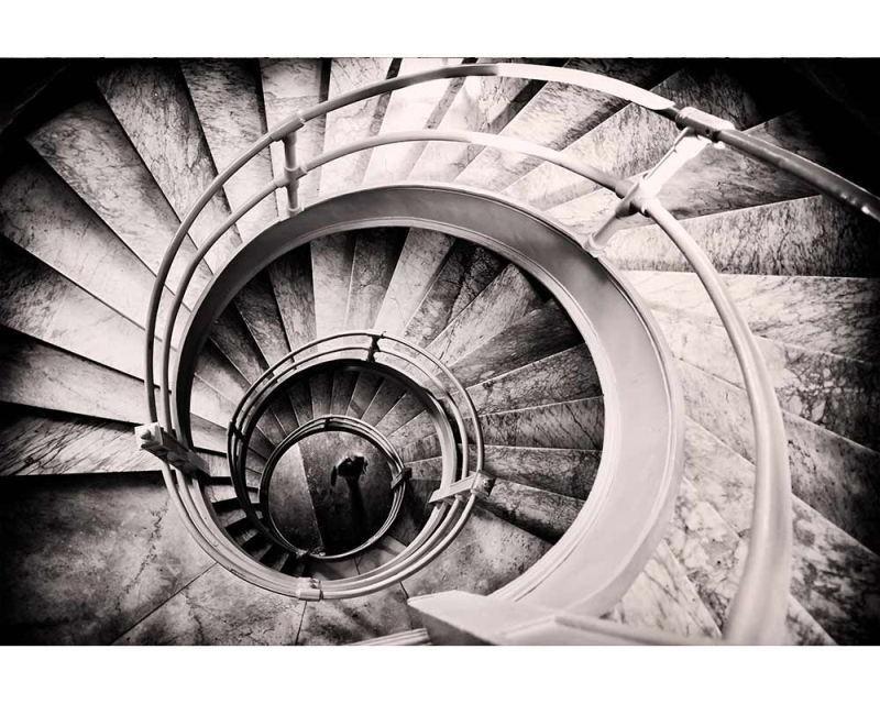 Vliesové fototapety na zeď 3D točité schodiště | MS-5-0271 | 375x250 cm - Fototapety vliesové