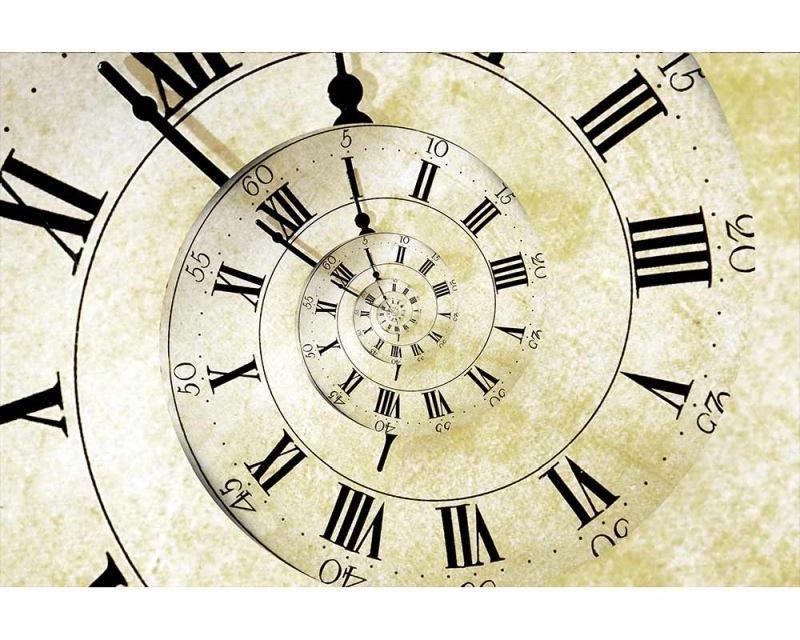 Vliesové fototapety na zeď Spirálové hodiny | MS-5-0272 | 375x250 cm - Fototapety vliesové