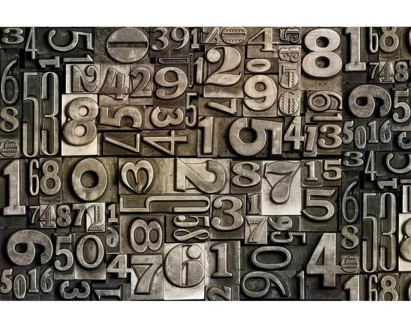 Vliesové fototapety na zeď Číslice | MS-5-0273 | 375x250 cm - Fototapety vliesové