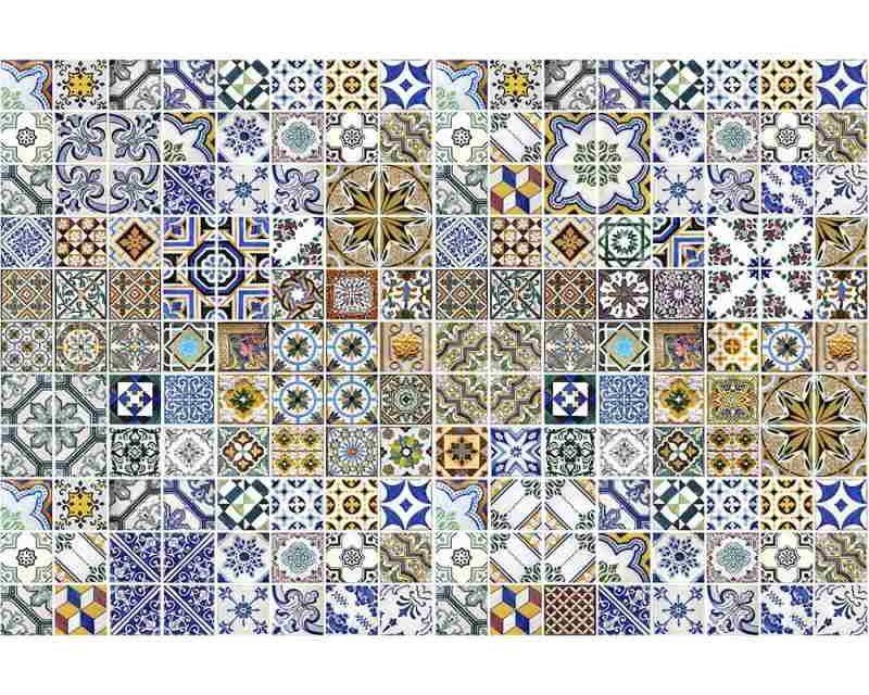 Vliesové fototapety na zeď Portugalské dlaždice | MS-5-0275 | 375x250 cm - Fototapety vliesové