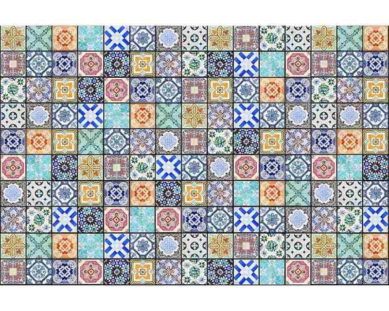 Vliesové fototapety na zeď Starobylé kachličky | MS-5-0276 | 375x250 cm - Fototapety vliesové
