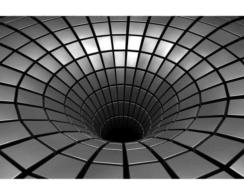 Vliesové fototapety na zeď 3D stříbrná propast | MS-5-0278 | 375x250 cm - Fototapety vliesové