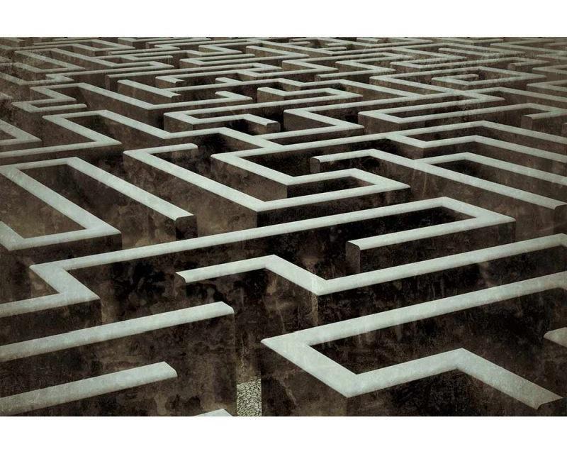 Vliesové fototapety na zeď 3D labyrint | MS-5-0279 | 375x250 cm - Fototapety vliesové