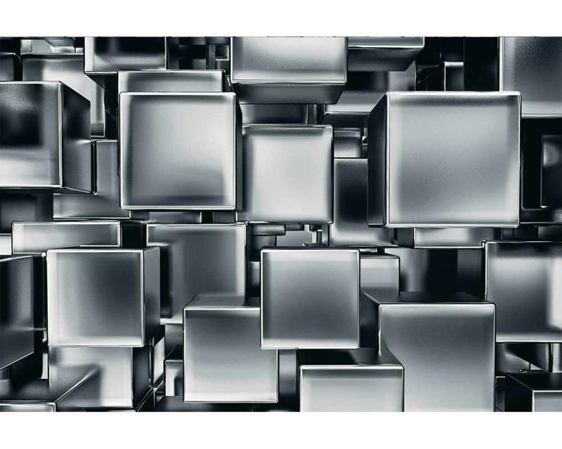 Vliesové fototapety na zeď 3D metalové kostky | MS-5-0285 | 375x250 cm - Fototapety vliesové