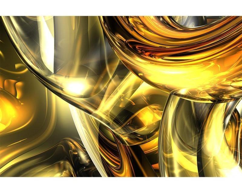 Vliesové fototapety na zeď Zlatý abstrakt | MS-5-0291 | 375x250 cm - Fototapety vliesové