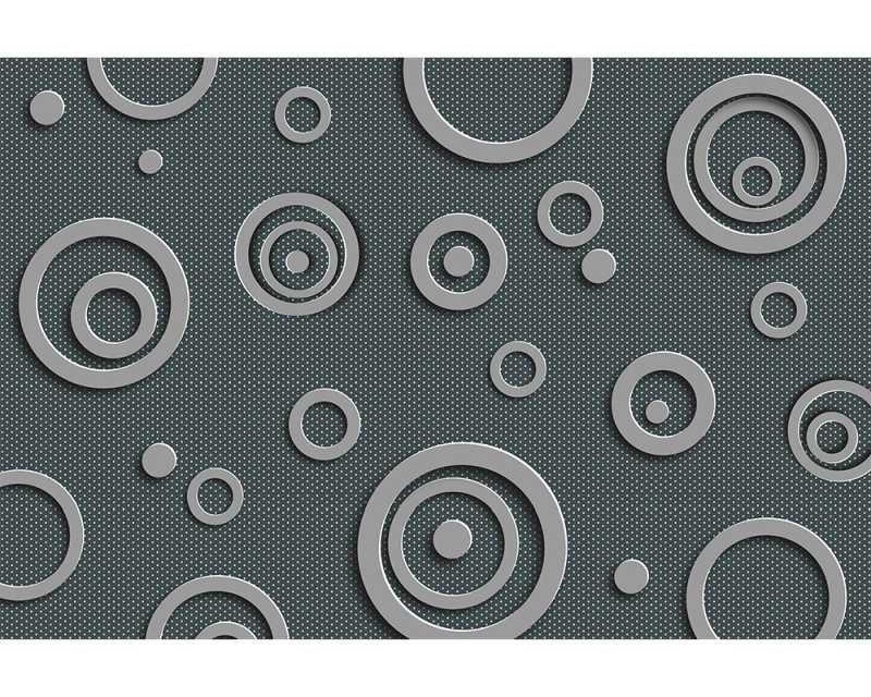 Vliesové fototapety na zeď 3D Kovové kruhy | MS-5-0302 | 375x250 cm - Fototapety vliesové