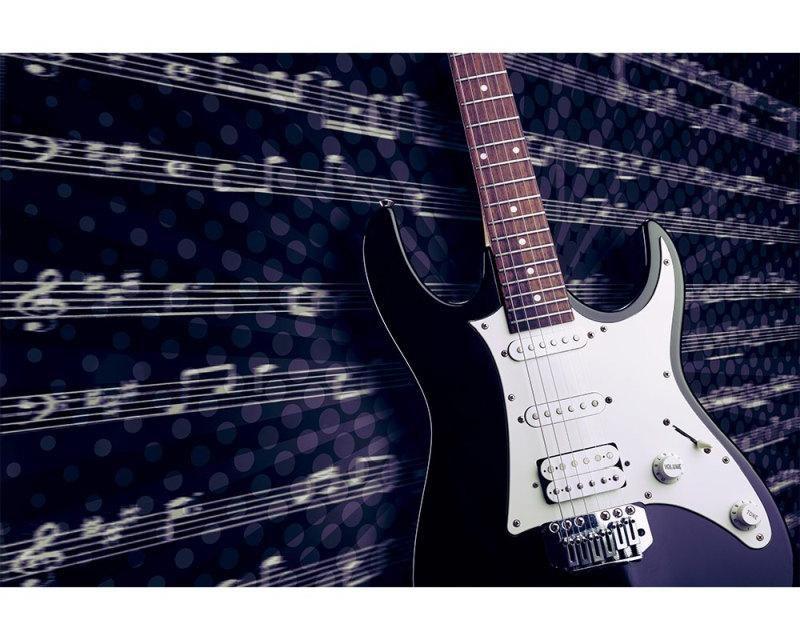 Vliesové fototapety na zeď Elektrická kytara | MS-5-0304 | 375x250 cm - Fototapety vliesové