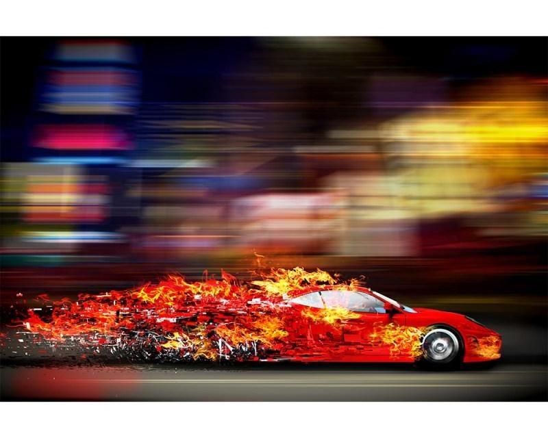 Vliesové fototapety na zeď Závodní auto | MS-5-0309 | 375x250 cm - Fototapety vliesové