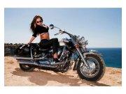 Vliesové fototapety na zeď Dívka na motorce | MS-5-0312 | 375x250 cm Fototapety vliesové