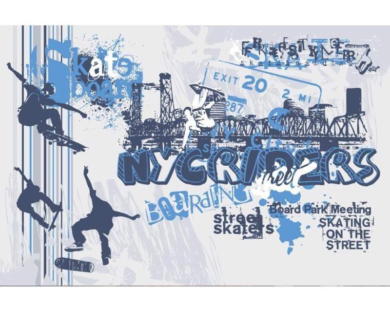 Vliesové fototapety na zeď Skate | MS-5-0313 | 375x250 cm - Fototapety vliesové