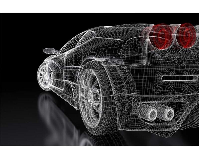 Vliesové fototapety na zeď Tmavý model auta | MS-5-0315 | 375x250 cm - Fototapety vliesové