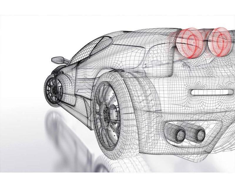Vliesové fototapety na zeď Světlý model auta | MS-5-0316 | 375x250 cm - Fototapety vliesové