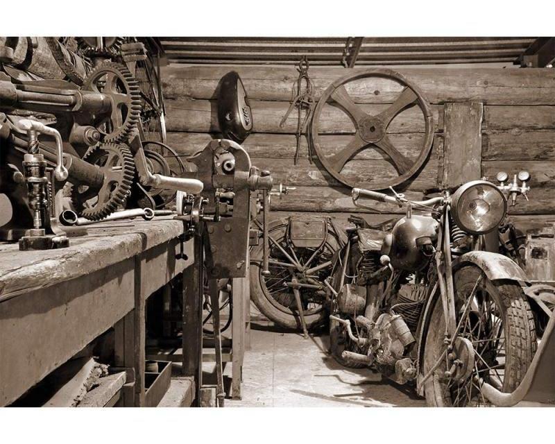 Vliesové fototapety na zeď Starobylá garáž | MS-5-0319 | 375x250 cm - Fototapety vliesové