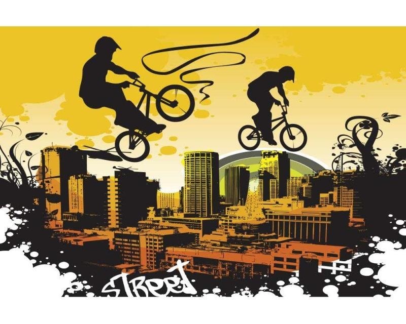 Vliesové fototapety na zeď Cyklisti | MS-5-0326 | 375x250 cm - Fototapety vliesové
