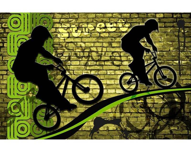 Vliesové fototapety na zeď Zelené kolo | MS-5-0328 | 375x250 cm - Fototapety vliesové