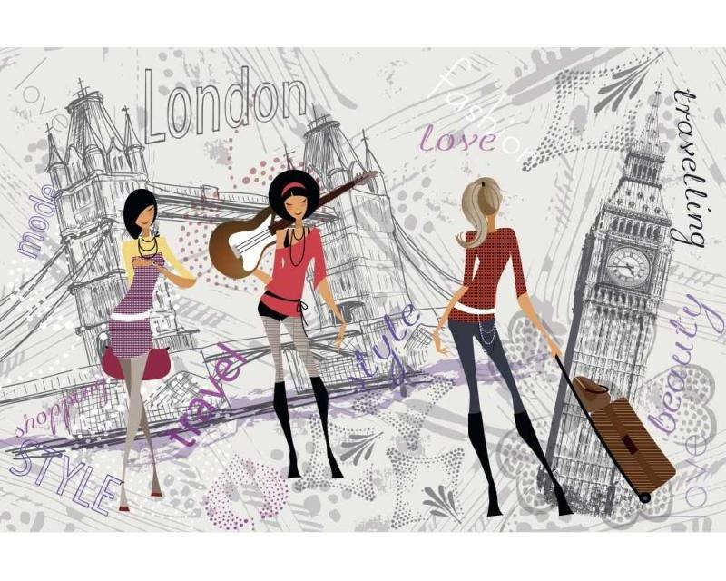 Vliesové fototapety na zeď Londýnský styl | MS-5-0332 | 375x250 cm - Fototapety vliesové