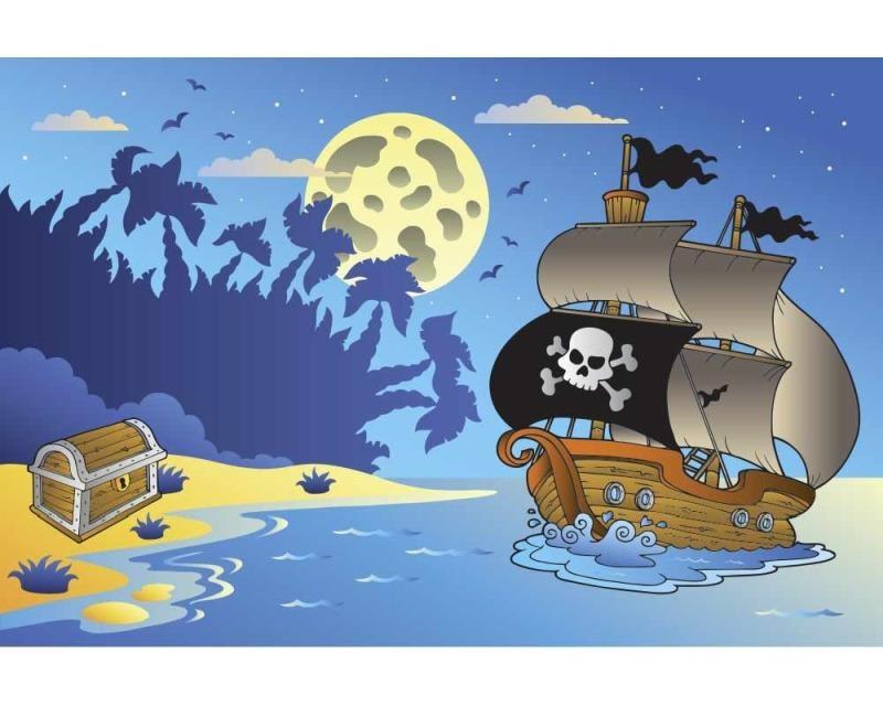 Vliesové fototapety na zeď Pirátská loď | MS-5-0335 | 375x250 cm - Fototapety vliesové