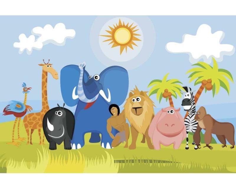 Vliesové fototapety na zeď Zvířátka v Africe | MS-5-0338 | 375x250 cm - Fototapety vliesové
