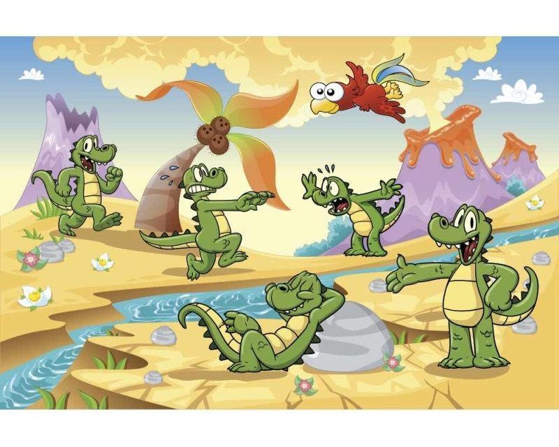 Vliesové fototapety na zeď Krokodýlci | MS-5-0344 | 375x250 cm - Fototapety vliesové