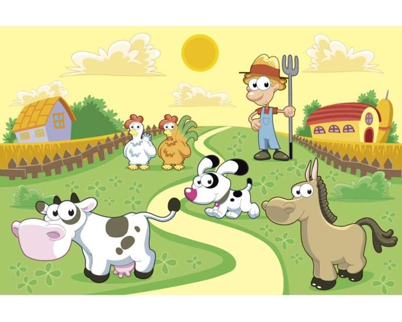 Vliesové fototapety na zeď Zvířátka z farmy | MS-5-0334 | 375x250 cm - Fototapety vliesové