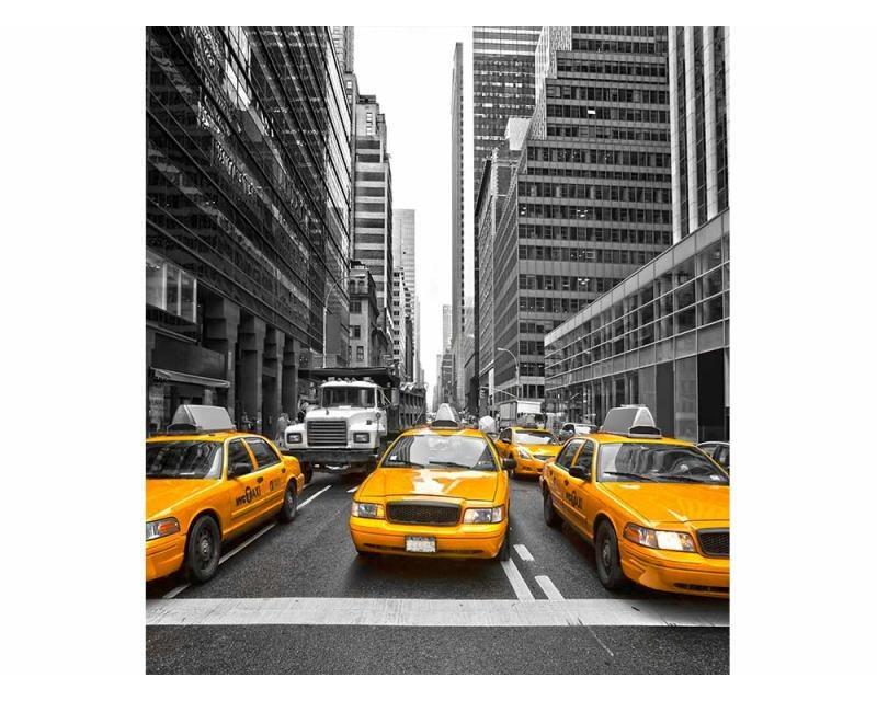 Vliesové fototapety na zeď Taxi ve městě | MS-3-0008 | 225x250 cm - Fototapety vliesové