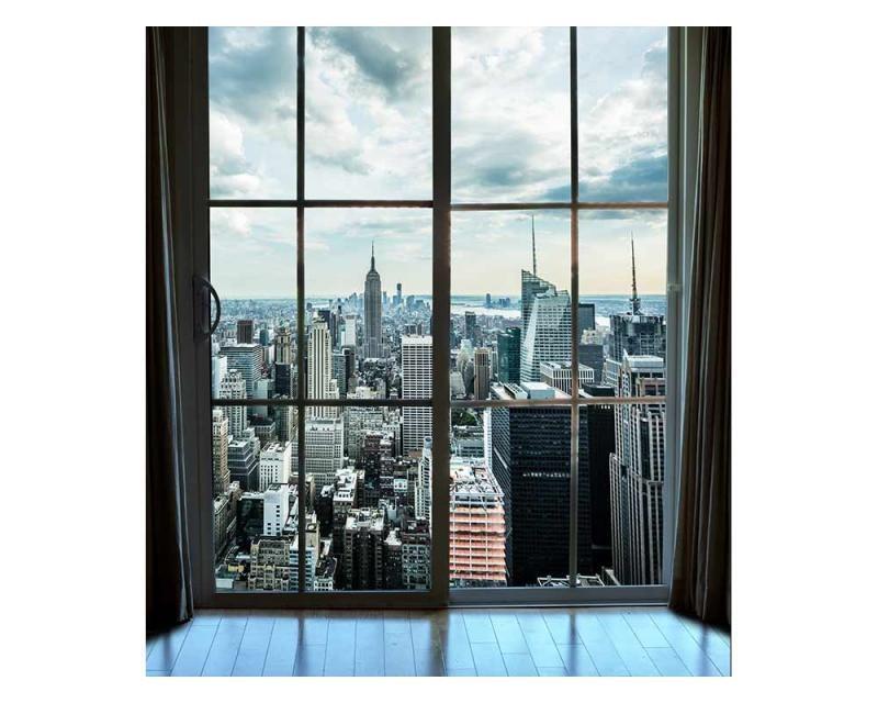 Vliesové fototapety na zeď Pohled z okna na Manhattan | MS-3-0009 | 225x250 cm - Fototapety vliesové