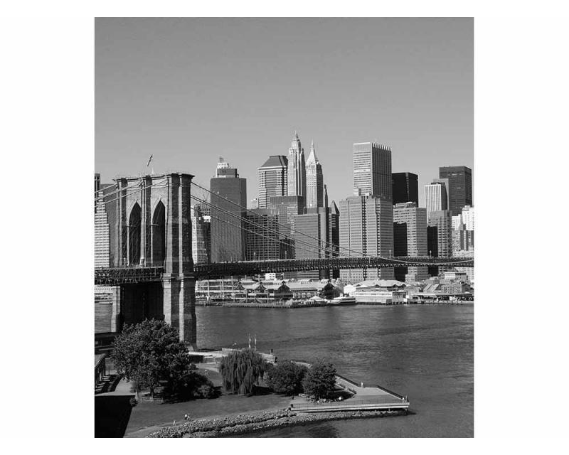 Vliesové fototapety na zeď Manhattan v šedé barvě | MS-3-0010 | 225x250 cm - Fototapety vliesové