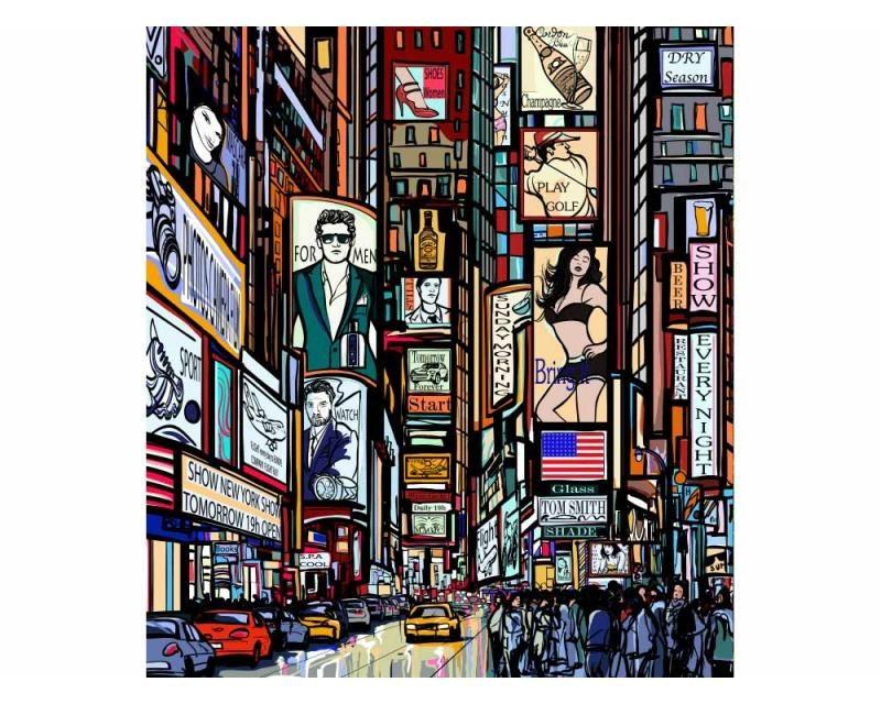Vliesové fototapety na zeď Náměstí Times Square | MS-3-0013 | 225x250 cm - Fototapety vliesové