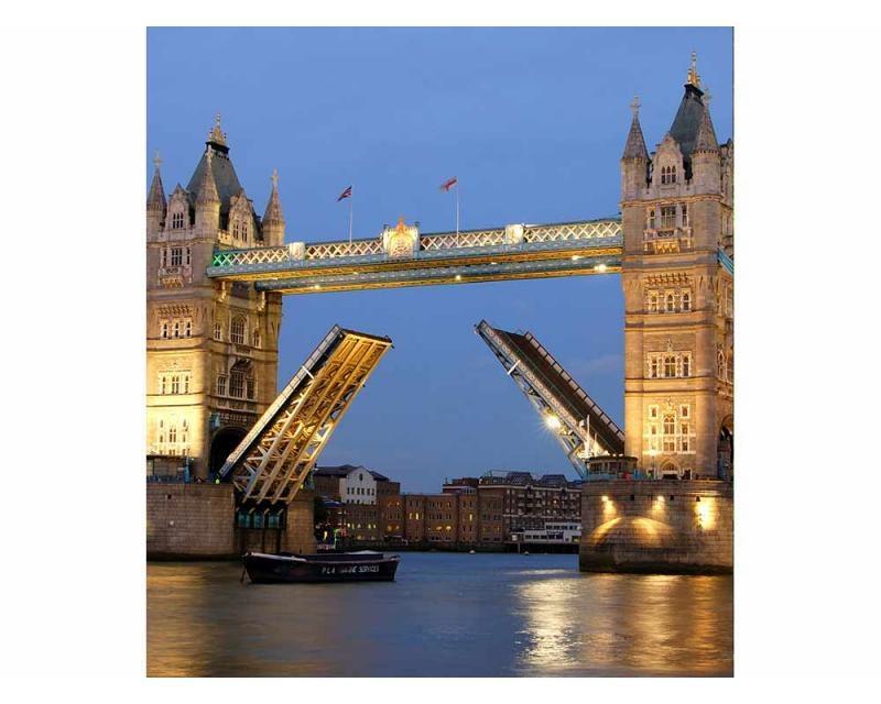 Vliesové fototapety na zeď Tower Bridge v noci | MS-3-0021 | 225x250 cm - Fototapety vliesové
