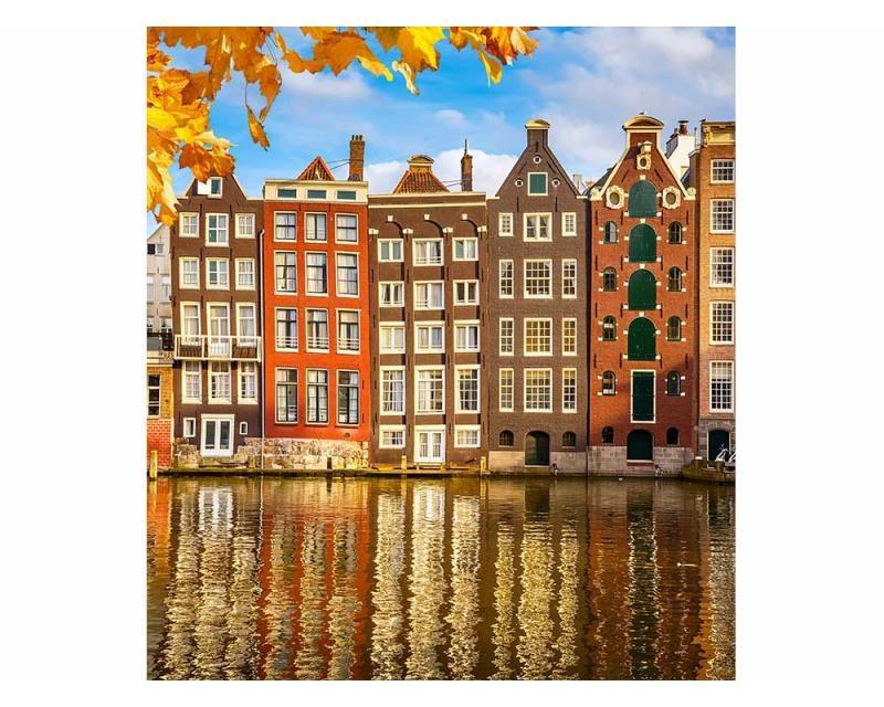 Vliesové fototapety na zeď Domy v Amsterdamu | MS-3-0024 | 225x250 cm - Fototapety vliesové