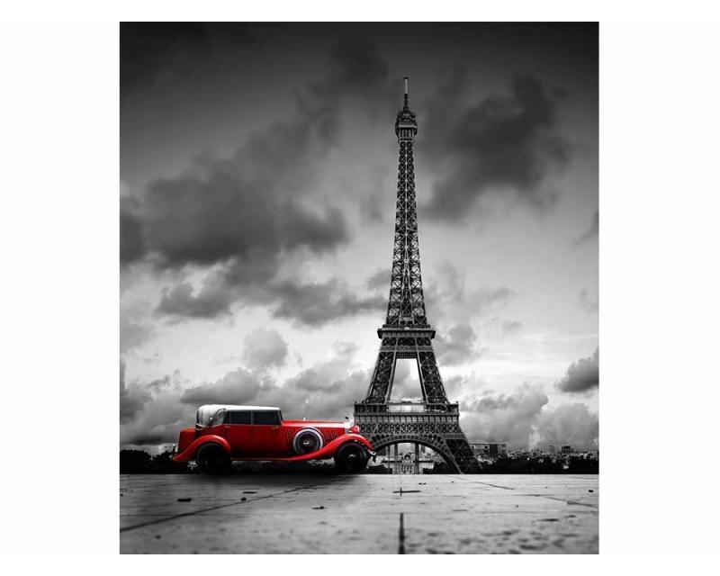 Vliesové fototapety na zeď Retro auto v Paříží | MS-3-0027 | 225x250 cm - Fototapety vliesové