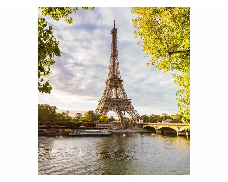 Vliesové fototapety na zeď Seina v Paříži | MS-3-0028 | 225x250 cm - Fototapety vliesové