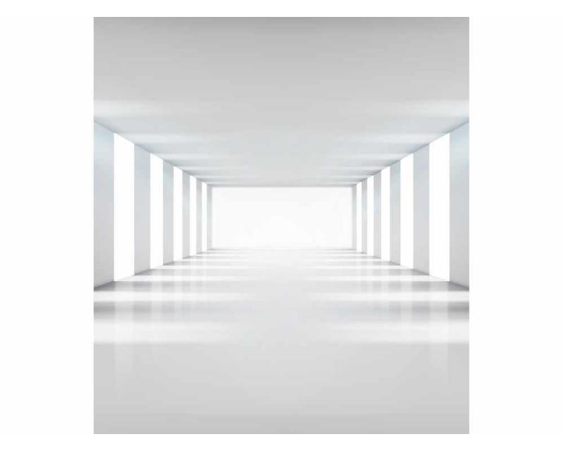 Vliesové fototapety na zeď 3D bílá chodba | MS-3-0036 | 225x250 cm - Fototapety vliesové