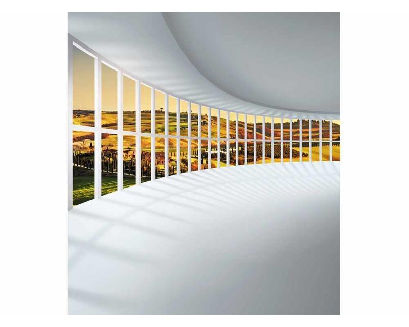Vliesové fototapety na zeď Hala s výhledem | MS-3-0040 | 225x250 cm - Fototapety vliesové