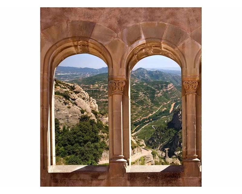 Vliesové fototapety na zeď Klenuté okno | MS-3-0049 | 225x250 cm - Fototapety vliesové