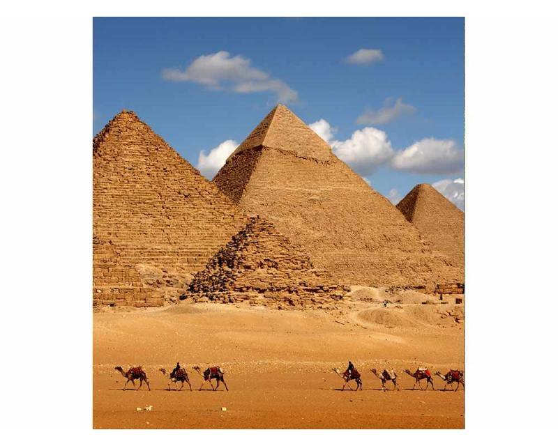Vliesové fototapety na zeď Egyptská pyramida | MS-3-0051 | 225x250 cm - Fototapety vliesové