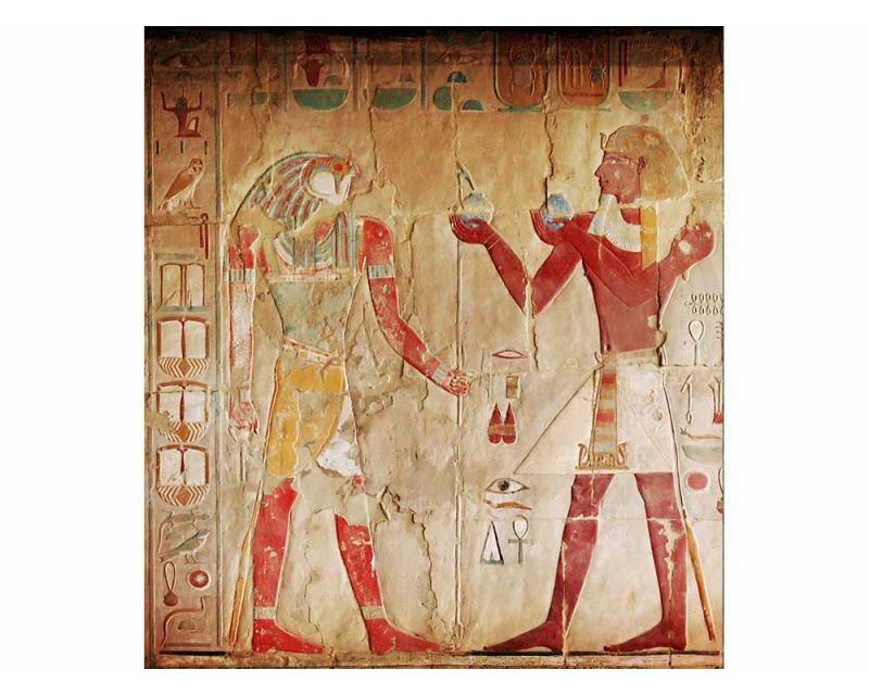 Vliesové fototapety na zeď Egyptská malba | MS-3-0052 | 225x250 cm - Fototapety vliesové