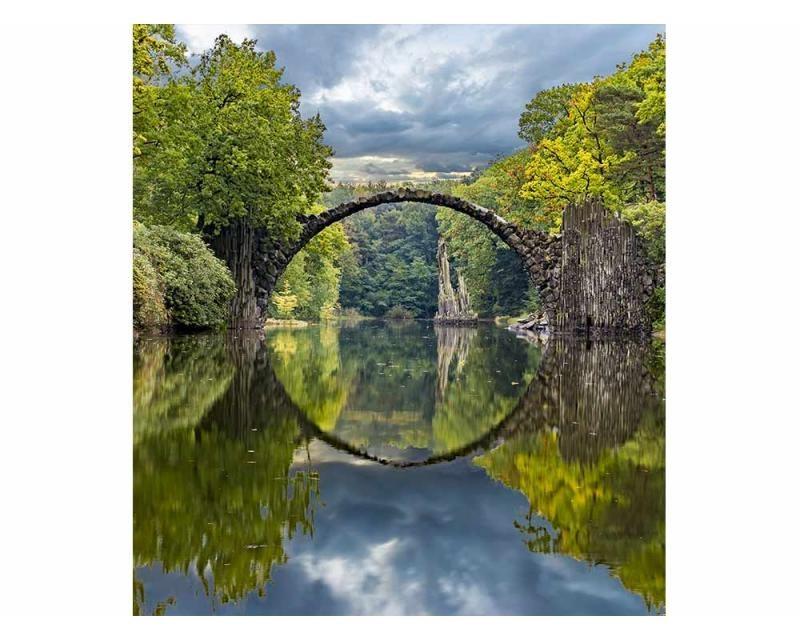 Vliesové fototapety na zeď Krajina s obloukovým mostem   MS-3-0060   225x250 cm - Fototapety vliesové