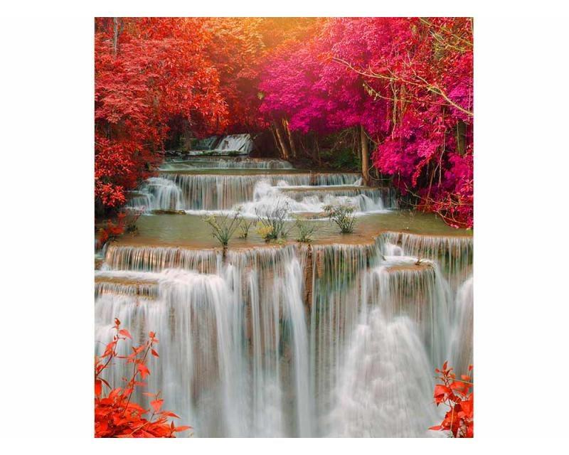 Vliesové fototapety na zeď Vodopád v deštném pralese | MS-3-0072 | 225x250 cm - Fototapety vliesové
