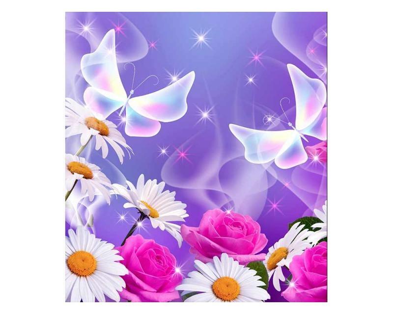 Vliesové fototapety na zeď Motýlci | MS-3-0113 | 225x250 cm - Fototapety vliesové
