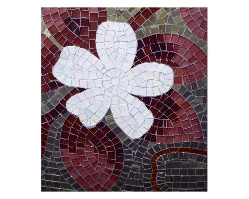 Vliesové fototapety na zeď Červená mozaika | MS-3-0114 | 225x250 cm - Fototapety vliesové