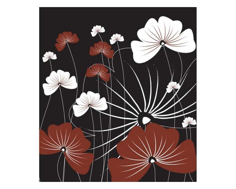 Vliesové fototapety na zeď Květiny na černém pozadí | MS-3-0156 | 225x250 cm - Fototapety vliesové